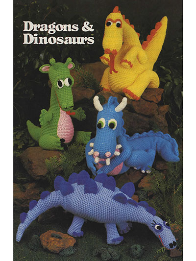Crochet Doll Toy Downloads Dragons Dinosaurs Crochet Pattern