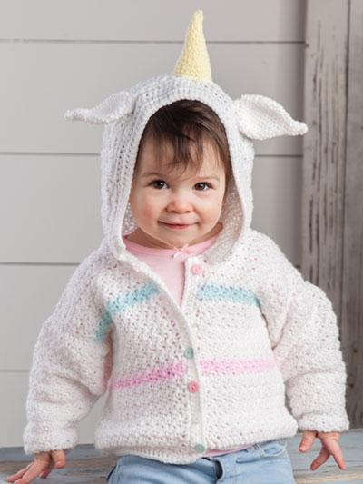 Unicorn Cardi Crochet Pattern
