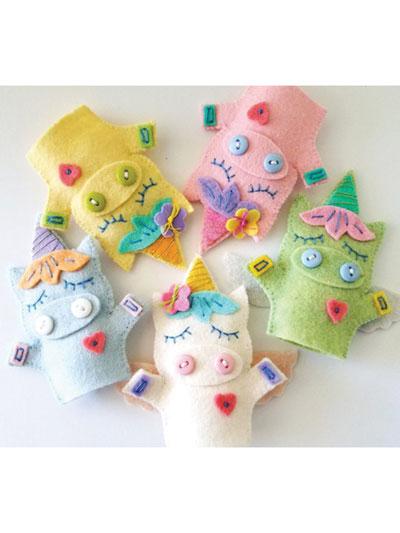 Unicorn Finger Puppets Sewing Pattern