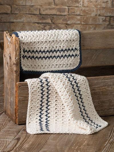 Pillow Ticking Kitchen Set Crochet Pattern