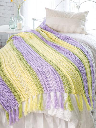 Lacy Ferns Afghan Crochet Pattern