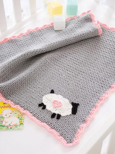 Crochet Afghan Patterns Little Lamb Baby Blanket Crochet Pattern