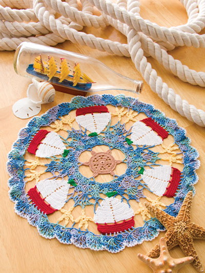 Crochet Patterns Out Of Print Patterns Sailboat Doily Crochet