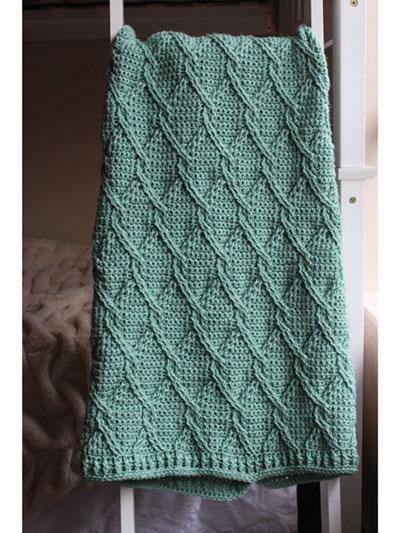 Crochet Patterns Aran Green Cables Blanket Crochet Pattern