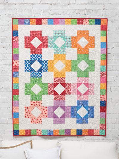 Baby Blocks Quilt Pattern.Exclusively Annie S Quilt Designs Color Blocks Quilt Pattern