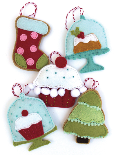 Felt Bake Shop Holiday Ornaments Sewing Pattern