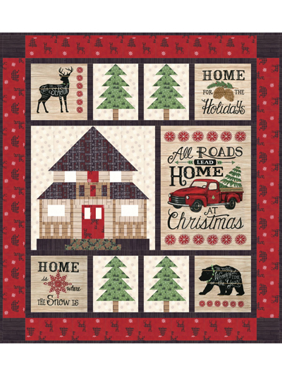 Christmas Quilt.Home For Christmas Quilt Pattern