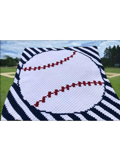 Crochet Patterns Baseball Stripe Afghan Crochet Pattern