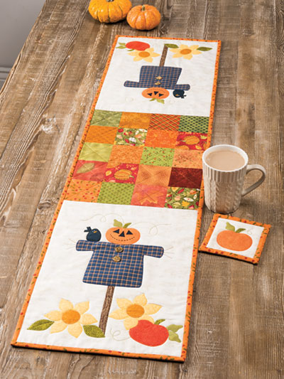 EXCLUSIVELY ANNIE'S QUILT DESIGNS: Friendly Scarecrow Table Runner