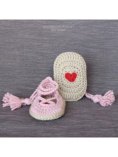 noa baby shoes crochet patterns