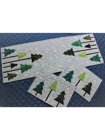 Christmas Runner Quilt Pattern.Holiday Forest Placemats Runner Quilt Pattern