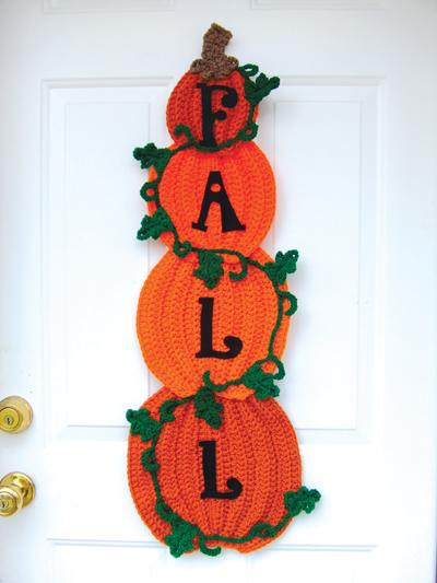 Stacked Pumpkin Door Hanging Crochet Pattern
