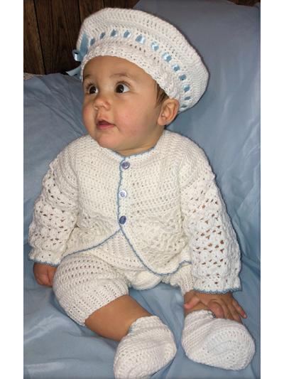 Baby Kids Crochet Clothing Baby Boy Christening Crochet Pattern Set