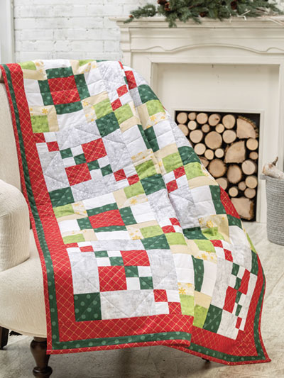 Christmas Quilt Patterns.Argyle Christmas Quilt Pattern