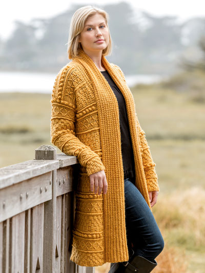 ANNIE'S SIGNATURE DESIGNS: Exeter Gansey Cardigan Crochet Pattern