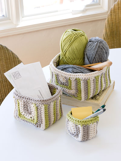 ANNIE'S SIGNATURE DESIGNS: Ramsey Gansey Baskets Crochet Pattern