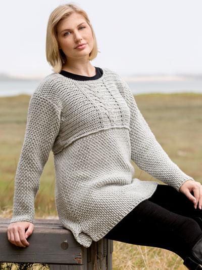 ANNIE'S SIGNATURE DESIGNS: Newlyn Gansey Pullover Crochet Pattern