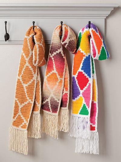 Giraffe Scarf Crochet Pattern