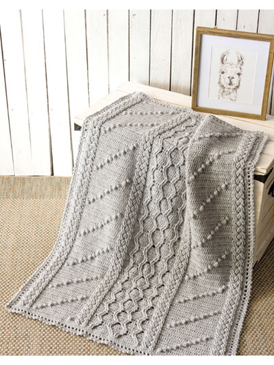 Highland Heather Baby Afghan Crochet Pattern