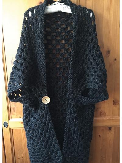 Onyx Duster Cardigan Crochet Pattern