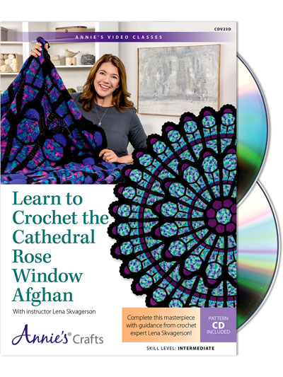 Learn to Crochet the Cathedral Rose Window Afghan Class DVD
