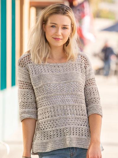 ANNIE'S SIGNATURE DESIGNS: Samsara Lace Pullover Crochet Pattern