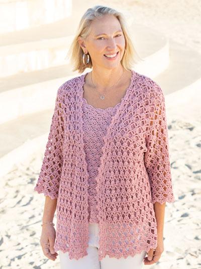 ANNIE'S SIGNATURE DESIGNS: Twinset Cardigan & Tank Crochet Pattern