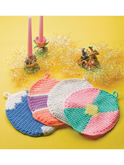 Easter Egg Crochet Pot Holders
