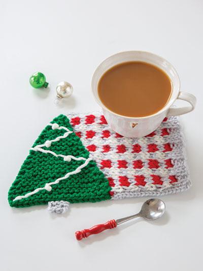 Under the Tree Knit Mug Rug Pattern