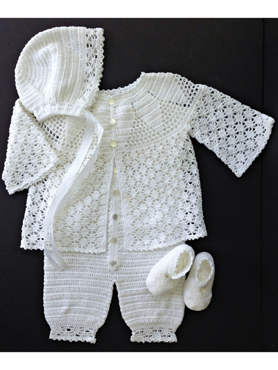 Baby Kids Crochet Clothing Baby Boy Lace Christening Set Crochet Pattern