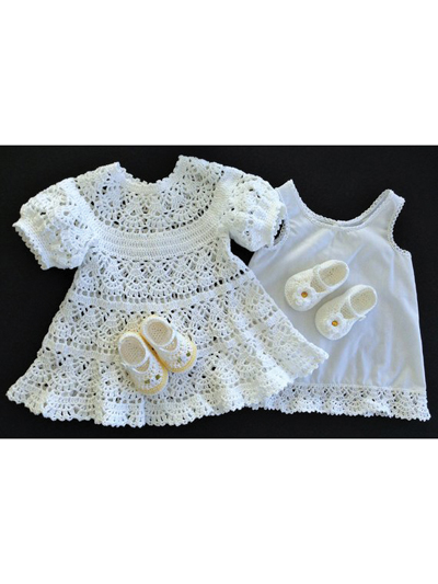 Baby Girl Lace Dress Crochet Pattern