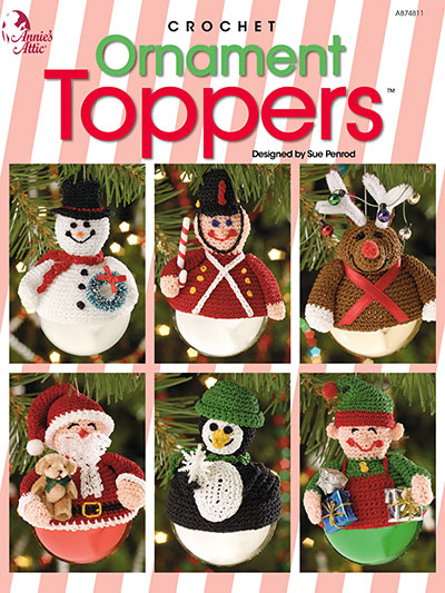 Ornament Toppers Crochet Pattern Book
