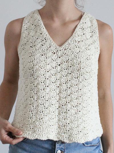 Button Down Tank Top Crochet Pattern