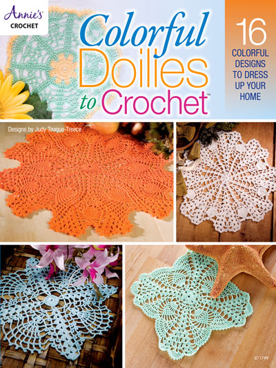 Crochet Patterns Colorful Doilies To Crochet Pattern Book