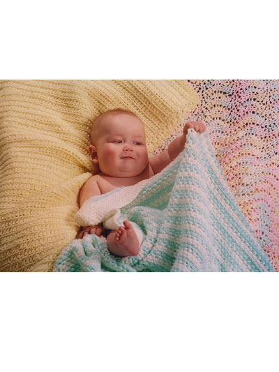 Knitting patterns from fiber trends inc easy crocheted baby blanket pattern dt1010fo