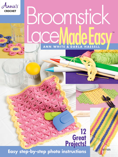 Out Of Print Crochet Patterns Broomstick Lace Made Easy