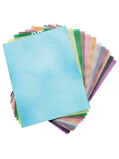 Supplies for Plastic Canvas - 7-Count Colored Plastic Canvas Sheets
