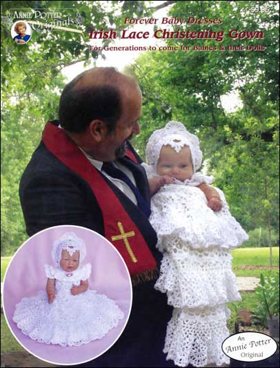 Crochet Patterns Irish Lace Christening Gown