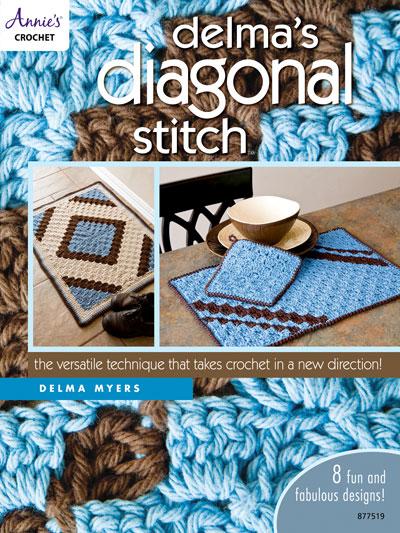 Crochet Patterns Out Of Print Patterns Delmas Diagonal Stitch