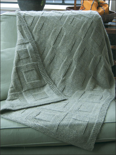 Reversible Afghan to Knit Knitting Pattern