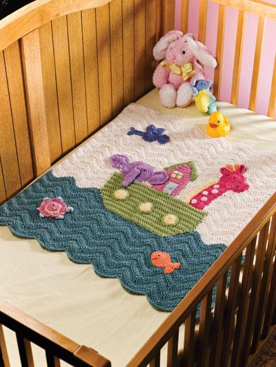 Noah's Ark Crochet Baby blanket pattern