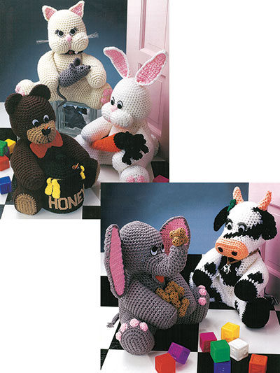 Crochet Toy Doll Patterns Animal Doorstops Crochet Pattern