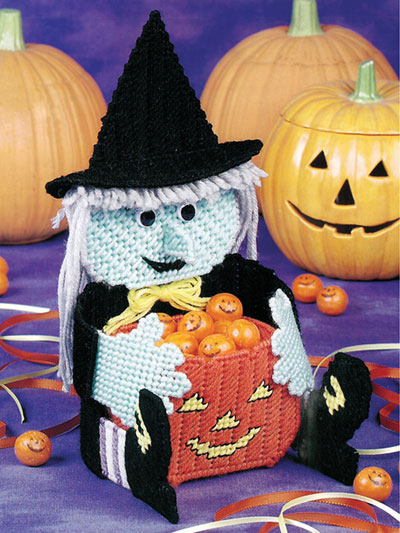 Wendy the Witch Candy Holder Plastic Canvas Pattern