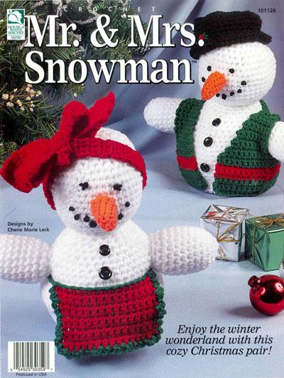 Crochet Mr. and Mrs. Snowman