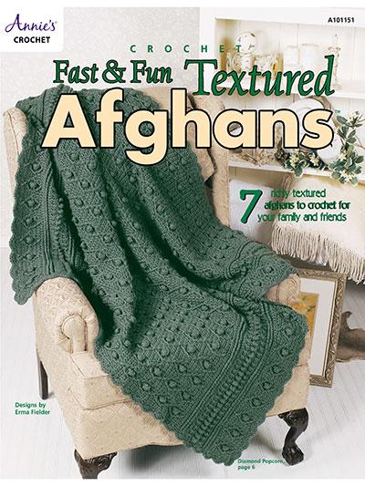 Crochet Afghan Patterns Fast Fun Textured Afghans Crochet