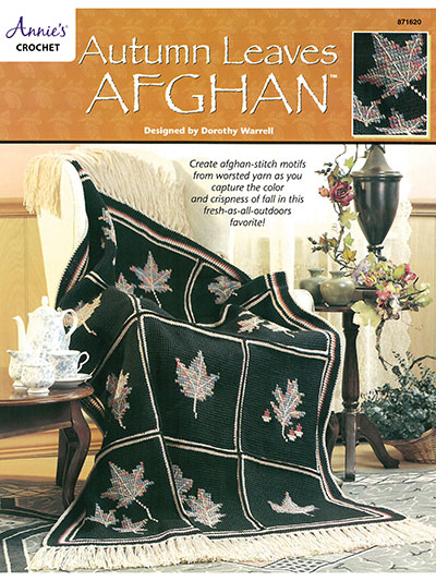 Tunisian Crochet Patterns Autumn Leaves Afghan Crochet Pattern Book