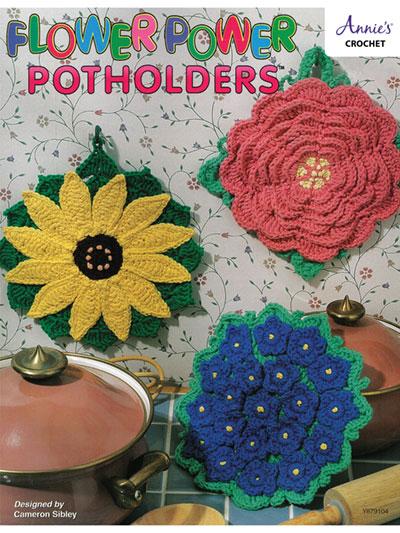Flower Power Potholders Crochet Pattern