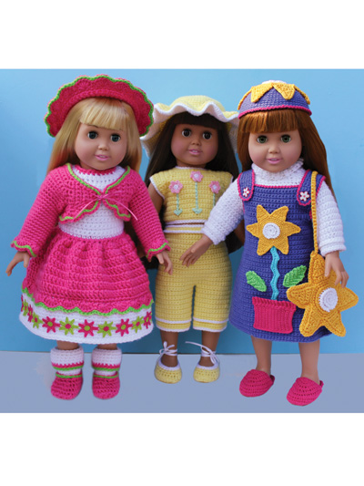 Spring & Summer Outfits - Paid and Free Crochet Patterns for 18-inch Dolls Like the American Girl Doll