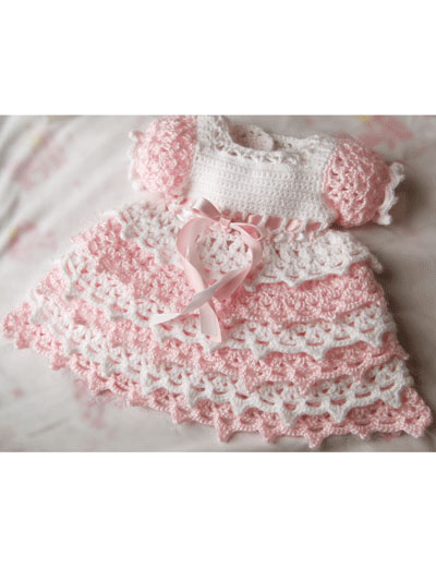 Baby Kids Crochet Clothing Violet Blooms Crochet Set