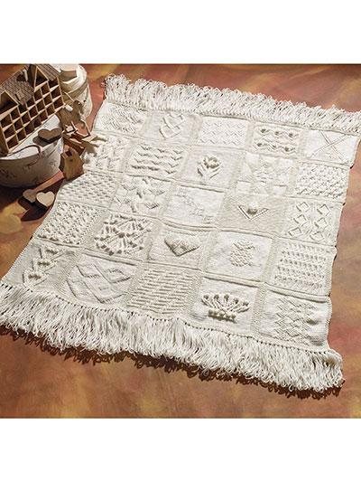 Afghan Knitting Patterns Knit Sampler Afghan